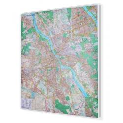 Warszawa 100x116cm. Mapa w ramie aluminiowej.