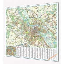 Wriocław - plan miasta 139x134cm. Mapa w ramie aluminiowej.