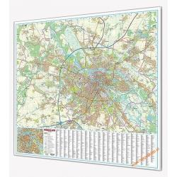 Wrocław - plan miasta 139x134cm. Mapa magnetyczna.