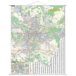 Poznań 100x140cm. Mapa scienna