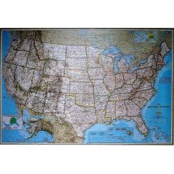 USA/Stany Zjednoczone polityczna 180x122cm. Mapa ścienna.
