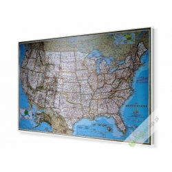 USA/polityczna 180x120cm. Mapa do wpinania.