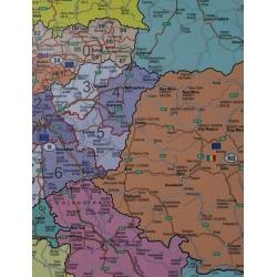 Europa kodowa 100x140cm. Mapa ścienna.