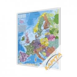 Europa kodowa 100x140cm. Mapa w ramie aluminowej.