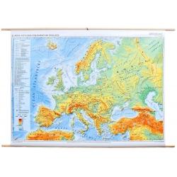 Europa fizyczna z elementami ekologii 166x116cm. Mapa ścienna.
