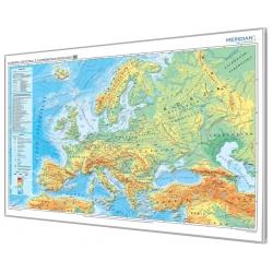 Europa fizyczna z elementami ekologii 166x116cm. Mapa do wpinania.