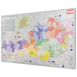 Austria kodowa 93x59cm. Mapa magnetyczna.