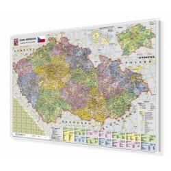 Czechy kodowa 140x100cm. Mapa magnetyczna.
