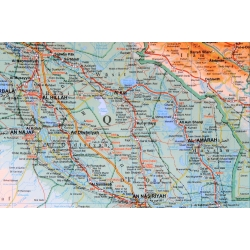 Irak fizyczno-drogowa 80x68 cm. Mapa w ramie aluminiowej.