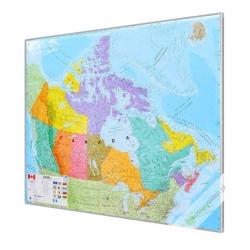 Kanada polityczna 126x102cm. Mapa do wpinania.
