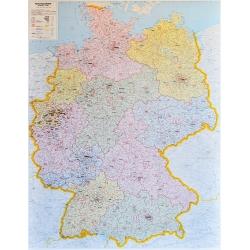Niemcy kodowa 106x140cm. Mapa ścienna.