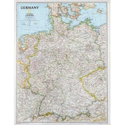 Niemcy 65x78cm. Mapa ścienna.