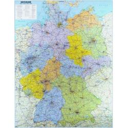 Niemcy administracyjno-drogowa 106x140cm. Mapa ścienna.