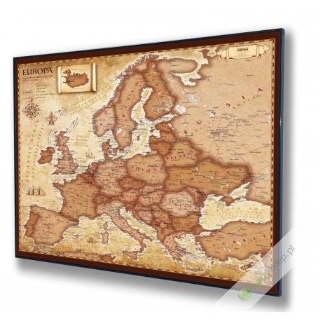 Europa stylizowana samochodowa-polityczna 100x100cm. Mapa do wpinania.