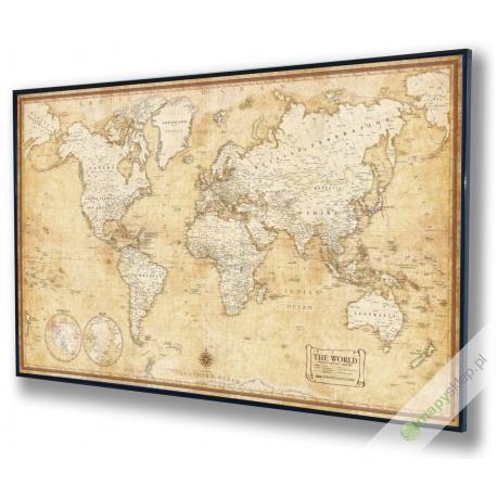 Świat polityczny stylizowany 144x90cm. Mapa magnetyczna.