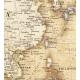 Świat polityczny stylizowany 144x90cm. Mapa w ramie aluminowej.