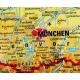 Niemcy, Austria, Szwajcaria fizyczna 120x160cm. Mapa ścienna.