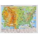 Stany Zjednoczone fizyczna 160x120cm. Mapa do wpinania.