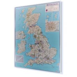 Wielka Brytania (Anglia, Szkocja, Irlandia, Walia) drogowa 1:850tys.MI Mapa do wpinania 121x164cm