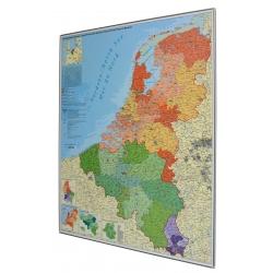 Benelux Kodowa 100x115 cm. Mapa magnetyczna.
