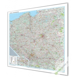 Polska Drogowa 150x142cm. Mapa do wpinania.