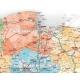 Polska administracyjno-drogowa 104x92 cm. Wersja Strong. Mapa w ramie aluminiowej.