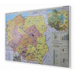 Polska - przemysł i energetyka 160x120cm. Mapa w ramie aluminiowej.