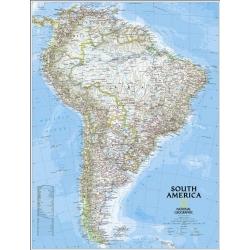 Ameryka Południowa 99x118cm.Mapa ścienna