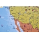 Ameryka Północna polityczna/fizyczna 104x138cm. Mapa w ramie aluminiowej.