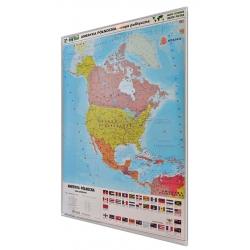 Ameryka Północna fizyczna/polityczna 104x138cm. Mapa magnetyczna.
