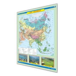 Azja krajobrazy 120x160cm. Mapa w ramie aluminowej.