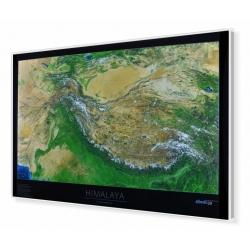 Himalaje fizyczna-satelitarna.Panorama 105x70cm. Mapa w ramie aluminiowej.