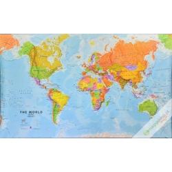 Świat Polityczny 202x122cm. Mapa ścienna.