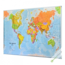 Świat Polityczny 200x122cm. Mapa magnetyczna.