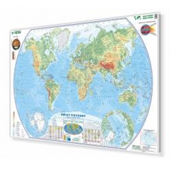 Świat Fizyczny 148x100cm. Mapa w ramie aluminiowej.