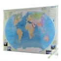 Hydrografia świata 160x120cm. Mapa do wpinania.