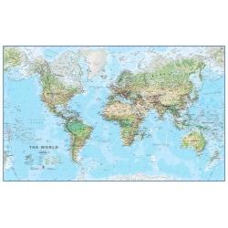 Świat Fizyczny 144x84 cm. Mapa ścienna.