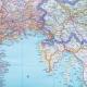 Włochy kodowo - drogowa 98x125cm. Mapa ścienna.