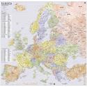Europa kodowa 150x140 cm. Mapa ścienna.