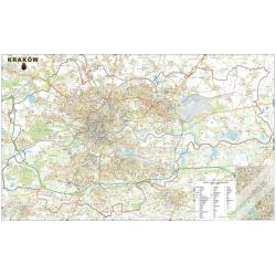 M-DR Kraków 1:22tys. Piętka Mapa ścienna 146x98 cm