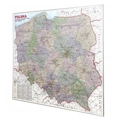 Polska-okręgi wyborcze 144,5x133,5cm. Mapa do wpinania.