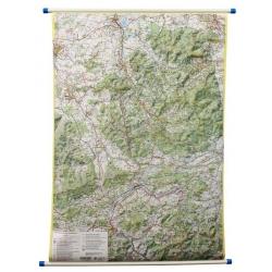 Beskid Śląski 75x100 cm. Mapa ścienna dwustronna.