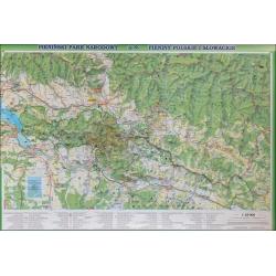 Pieniński Park Narodowy/Pieniny polskie i słowackie 104x68cm. Mapa ścienna.