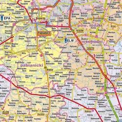 Łódzkie administracyjno-drogowa 100x120 cm. Mapa ścienna.