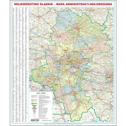 Śląskie administracyjno-drogowa 96,5x108cm. Mapa ścienna.