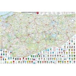 Warmińsko-Mazurskie BiK Mapa ścienna 97x70cm