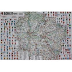 Kujawsko-Pomorskie administracyjno-turystyczna 98x68 cm. Mapa ścienna.
