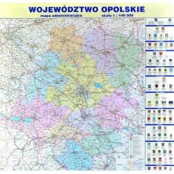 Opolskie administracyjna 110x123 cm. Mapa ścienna