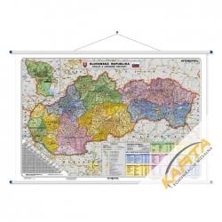 MD-R Słowacja admin-drog 140x100 Stiefel Mapa scienna