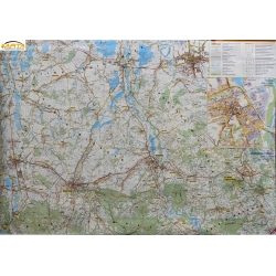 Wadowice i okolice 103x68cm. Mapa ścienna dwustronna.